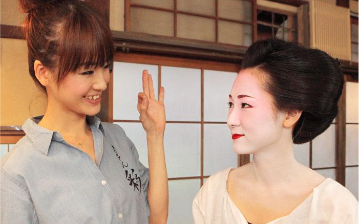 舞妓さんの日本髪の美しさ