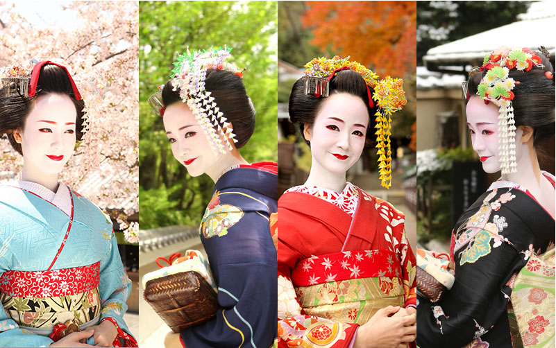 舞妓写真を京都の背景で