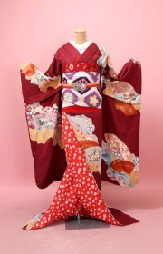 舞妓体験の着物の拡大画像