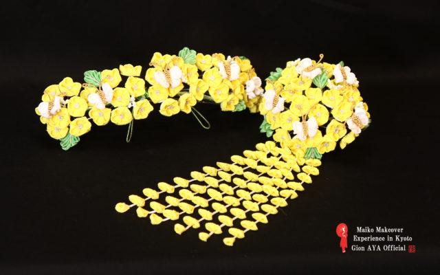 Maiko March Japanese ornamental hairpin (KANZASHI)
