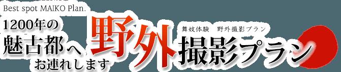 舞妓体験・京都野外撮影プラン