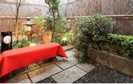 舞妓体験京町屋の坪庭