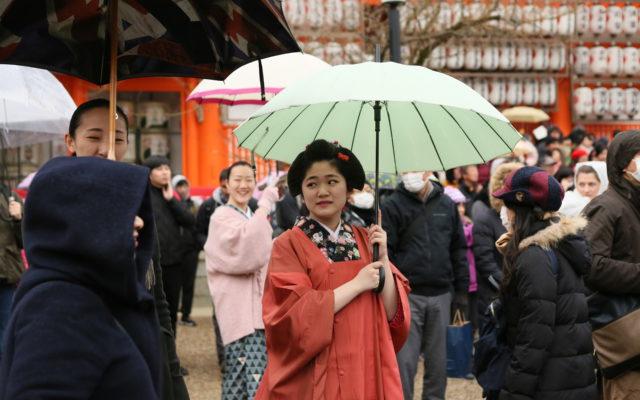 毎年恒例☆2月と言えば~☆八坂神社境内で行われる『節分祭』!!☆今年も頑張った(笑)☆見ておくれやす~♡