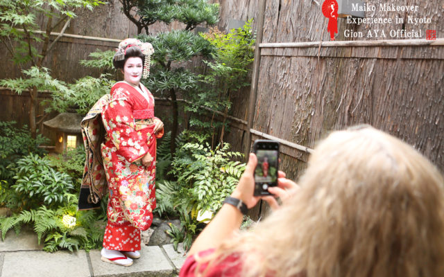 "We have a ""Selfie course!!! where you can have a very reasonable and authentic geisha, maiko experience."