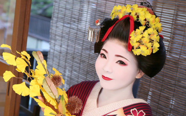 "Maiko and Geisha experience kyoto ""Gion AYA staff introduction"" Makeup staff=""MIRAI KONAWA"""