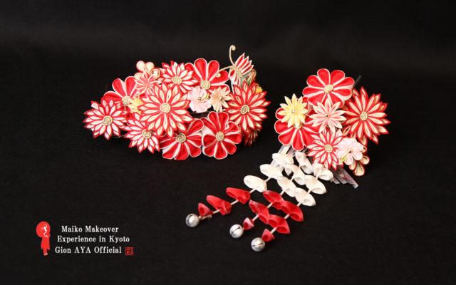 Maiko Japanese ornamental hairpin (KANZASHI) for children.