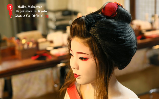 Maiko and Geisha makeover experience in Kyoto gion AYA staff answer the questions of the geisha and maiko experience. ~Hair wig~