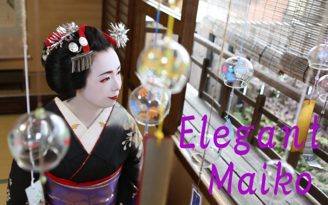 Her style is an elegant maiko.